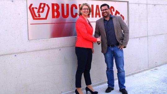 Auch Buchhauser Container hat MitarbeiterInnen in Kooperation mit dem AMS qualifiziert.